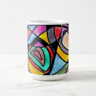 Extracto coloreado del lápiz taza de café
