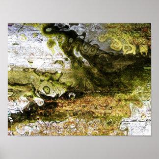 Extracto - colores de Swirly Poster