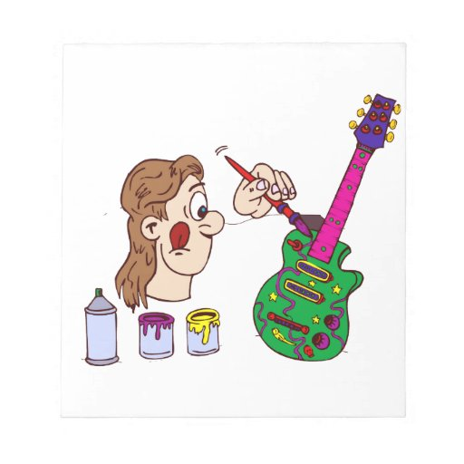 extracto colorful.png de la guitarra de la pintura libreta para notas