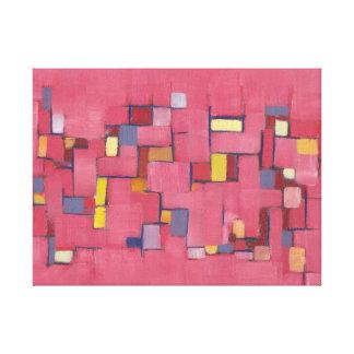 Extracto colorido 24x18 del rosa del arte de la lo impresiones en lona estiradas