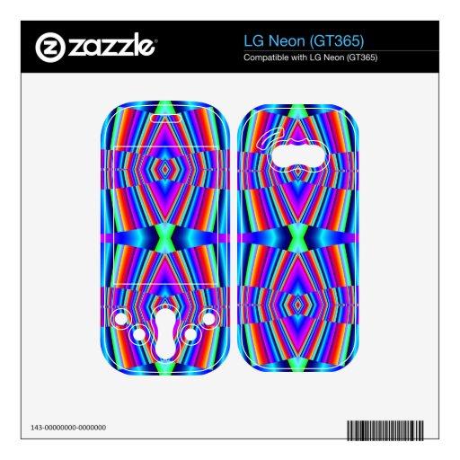 Extracto colorido brillante calcomanía para LG neon