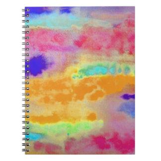 Extracto colorido de la acuarela libreta