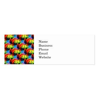 Extracto colorido de la ciudad de la música del ar tarjeta de negocio