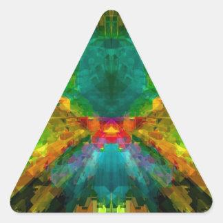Extracto colorido de la energía de Big Bang 4 Pegatina Triangular