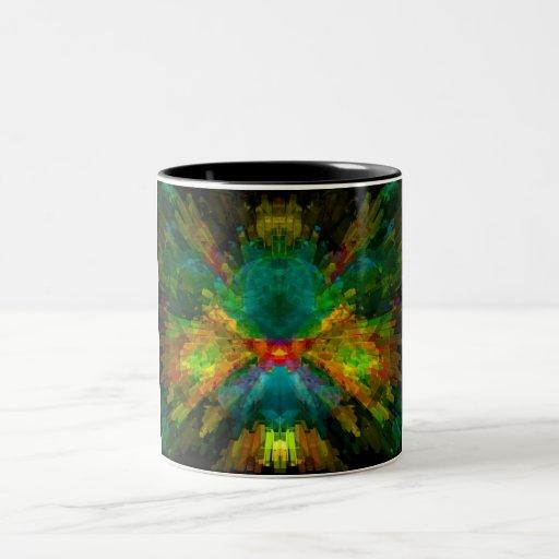 Extracto colorido de la energía de Big Bang 4 Taza De Café De Dos Colores