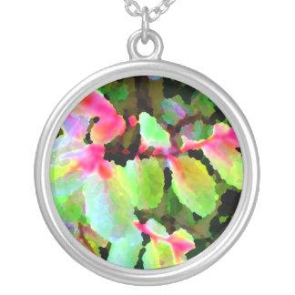 extracto colorido de la planta del snowbush colgante redondo
