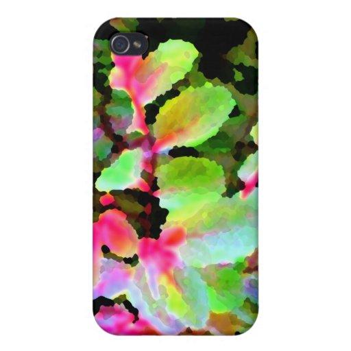 extracto colorido de la planta del snowbush iPhone 4/4S fundas