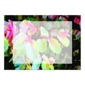 """extracto colorido de la planta del snowbush invitación 5"""" x 7"""""""