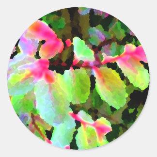 extracto colorido de la planta del snowbush etiquetas redondas