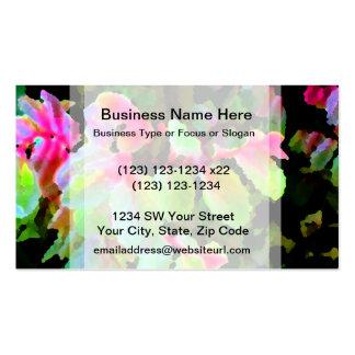 extracto colorido de la planta del snowbush tarjeta de visita
