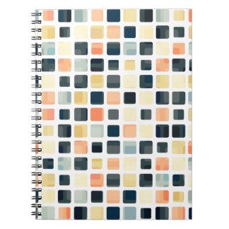 Extracto colorido de la teja cuaderno