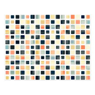 Extracto colorido de la teja postal