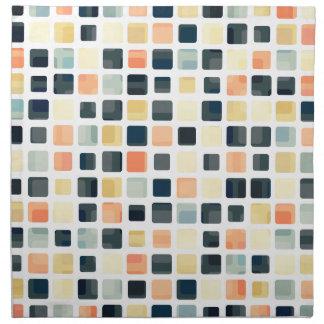 Extracto colorido de la teja servilleta de papel