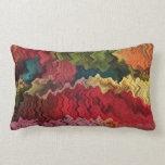 Extracto colorido de la tela almohadas