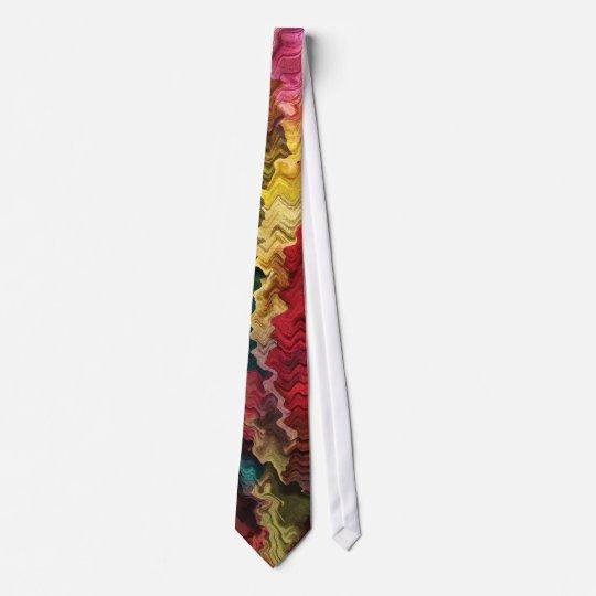 Extracto colorido de la tela corbatas