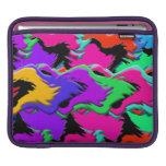 Extracto colorido de las ondas mangas de iPad