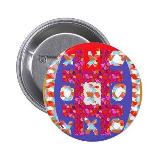 Extracto colorido de los corazones del JUEGO: Romá Pin Redondo 5 Cm