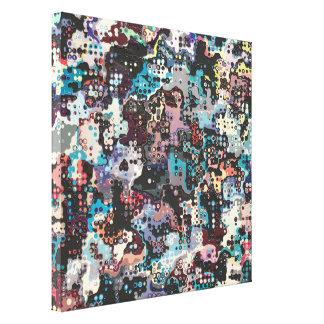Extracto colorido de los plásticos impresiones en lienzo estiradas