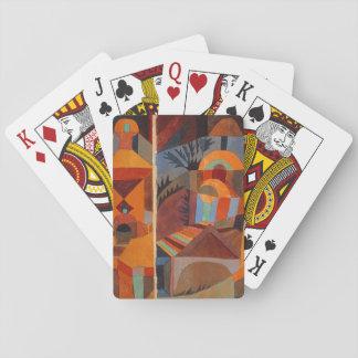 Extracto colorido de Paul Klee del cubismo Cartas De Póquer