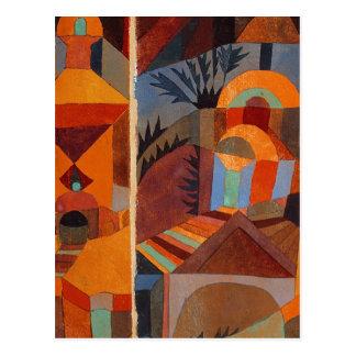 Extracto colorido de Paul Klee del cubismo Tarjeta Postal