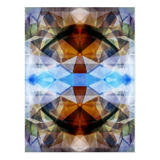 Extracto colorido del caleidoscopio tarjeta postal