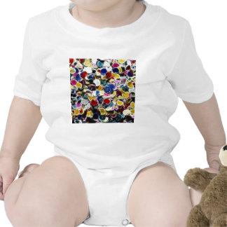 Extracto colorido del fractal del confeti camiseta
