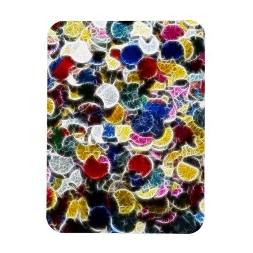 Extracto colorido del fractal del confeti imán de vinilo