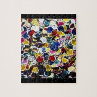 Extracto colorido del fractal del confeti rompecabeza con fotos