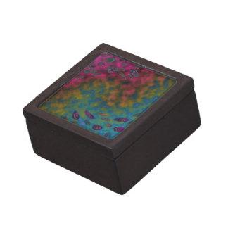 extracto colorido del giro caja de joyas de calidad