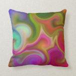 Extracto colorido del remolino almohadas