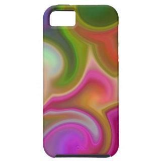 Extracto colorido del remolino iPhone 5 Case-Mate cárcasas
