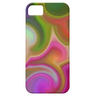 Extracto colorido del remolino iPhone 5 protector