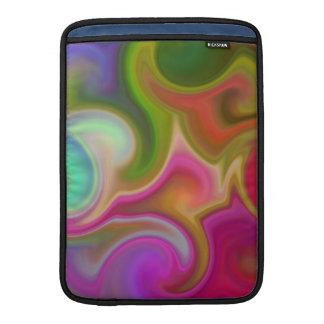 Extracto colorido del remolino fundas macbook air