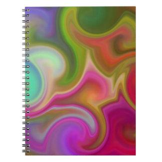Extracto colorido del remolino libreta