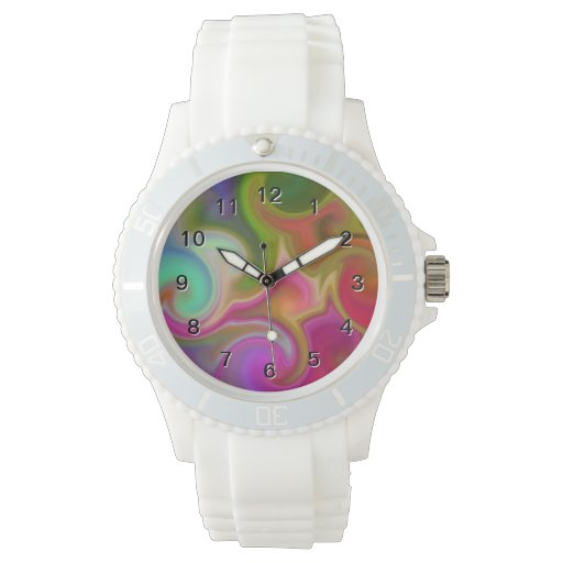 Extracto colorido del remolino relojes de mano
