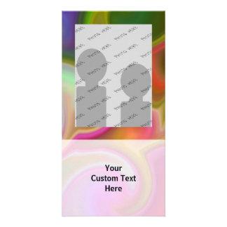 Extracto colorido del remolino tarjeta fotográfica