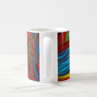 Extracto colorido, fantasmagórico, original, ojo, taza de café
