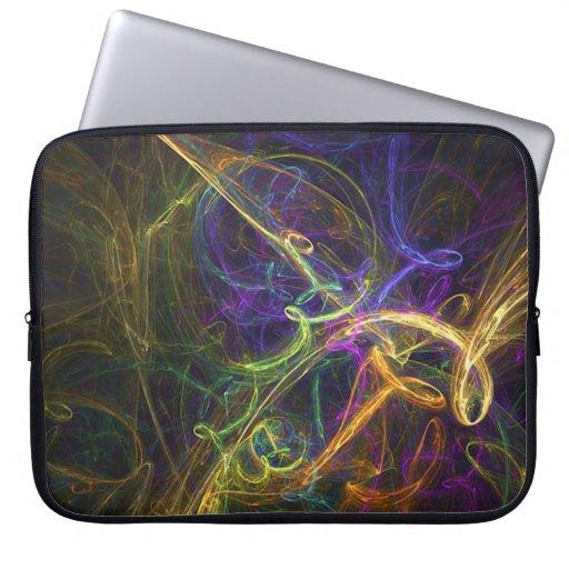 Extracto colorido mangas computadora