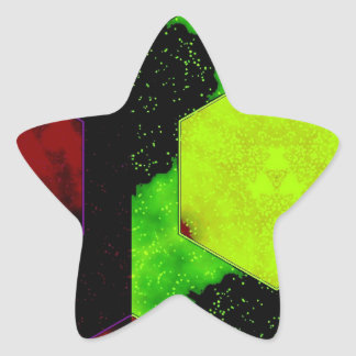 Extracto colorido calcomanías forma de estrellaes personalizadas