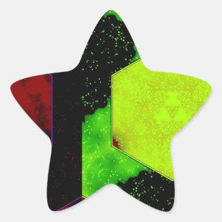 Extracto colorido pegatina en forma de estrella
