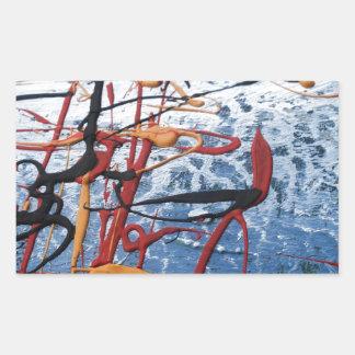 Extracto colorido pegatina rectangular