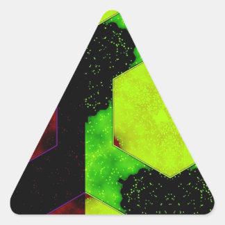 Extracto colorido pegatina triangular