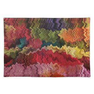 Extracto colorido Placemat de la tela Manteles