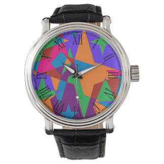 Extracto colorido retro reloj