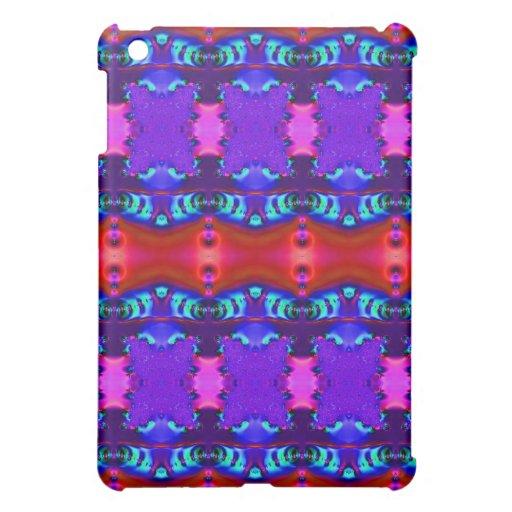 Extracto colorido rojo púrpura iPad mini coberturas