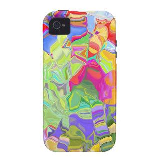 Extracto colorido soñador vibe iPhone 4 carcasas