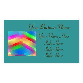 Extracto colorido tarjetas de visita