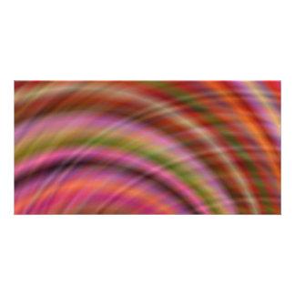 Extracto colorido tarjeta fotografica personalizada