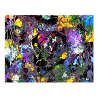 Extracto colorido tarjetas postales