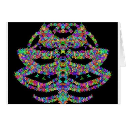extracto colorido único tarjeta